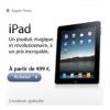 APPLE : iPad à partir de 499 euros et la livraison gratuite